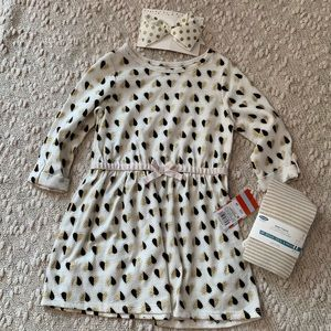 3 piece dress and accessories bundle